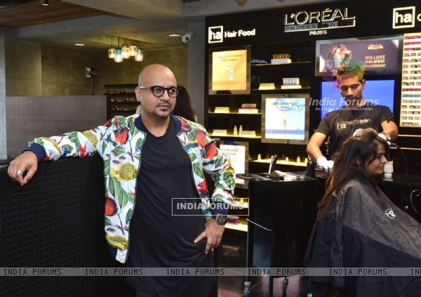 Aalim Hakim snapped at the Grand Opening of his New Salon in Ahmedabad