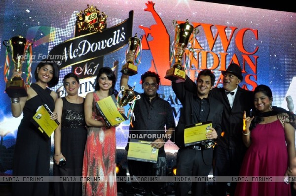 Winners of McDowells's No.1 Platinum Karaoke World Championship Finale