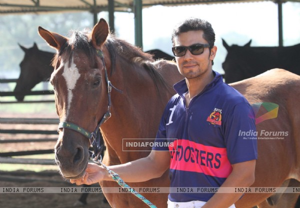 Randeep Hooda at the Launch of his Polo Team in Jaipur