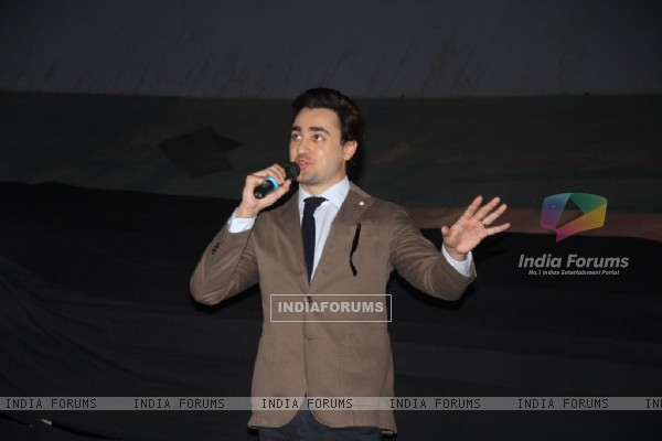 Imran Khan addresses the audience at the 16th MAMI Film Festival
