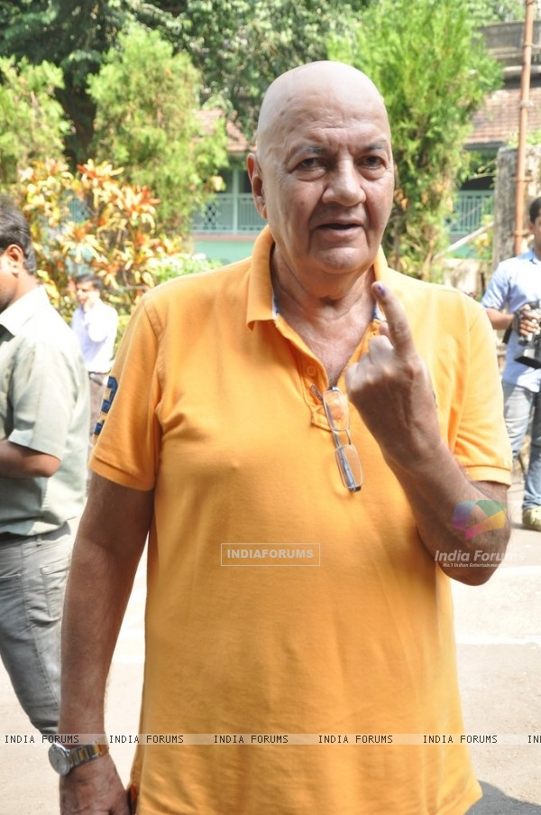 Prem Chopra was at the polling booth to cast his vote