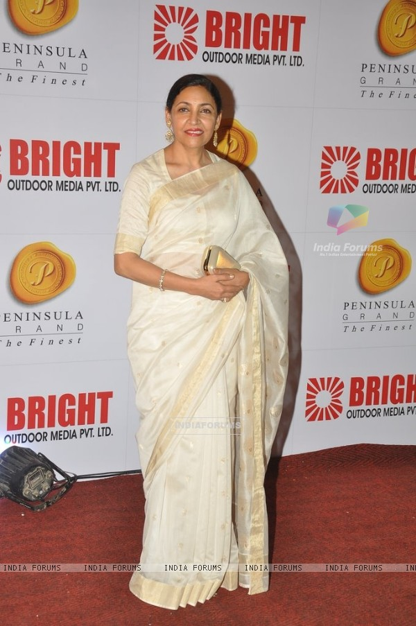 Deepti Naval at the Bright Outdoor Advertising Party