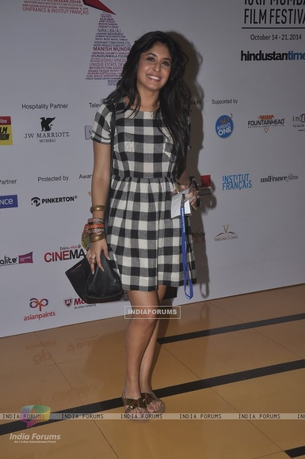 Kritika Kamra poses for the media at the 16th MAMI Film Festival Day 3