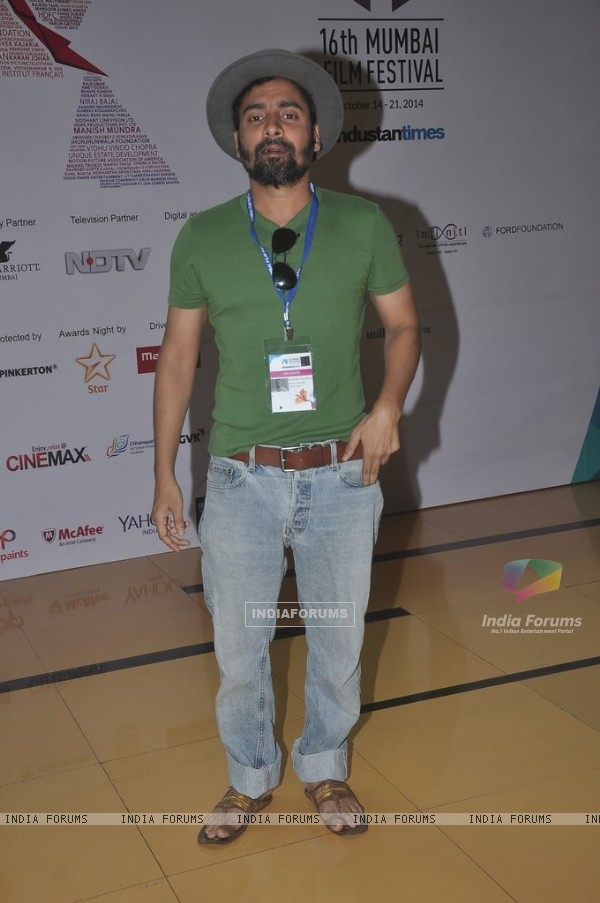 Chandan Roy Sanyal poses for the media at the 16th MAMI Film Festival Day 3
