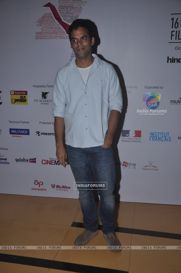 Vikramaditya Motwane poses for the media at the 16th MAMI Film Festival Day 3