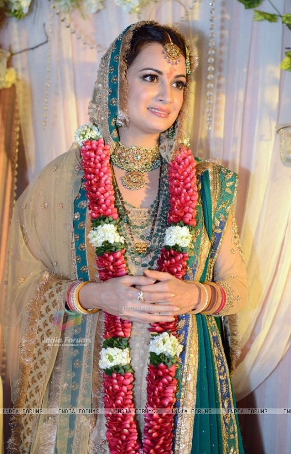 Dia Mirza snapped in her beautiful wedding dress