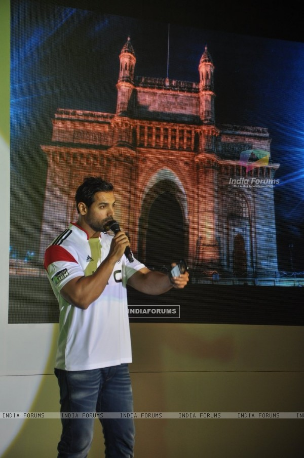 John Abraham addresses the Launch of HTC Mobile