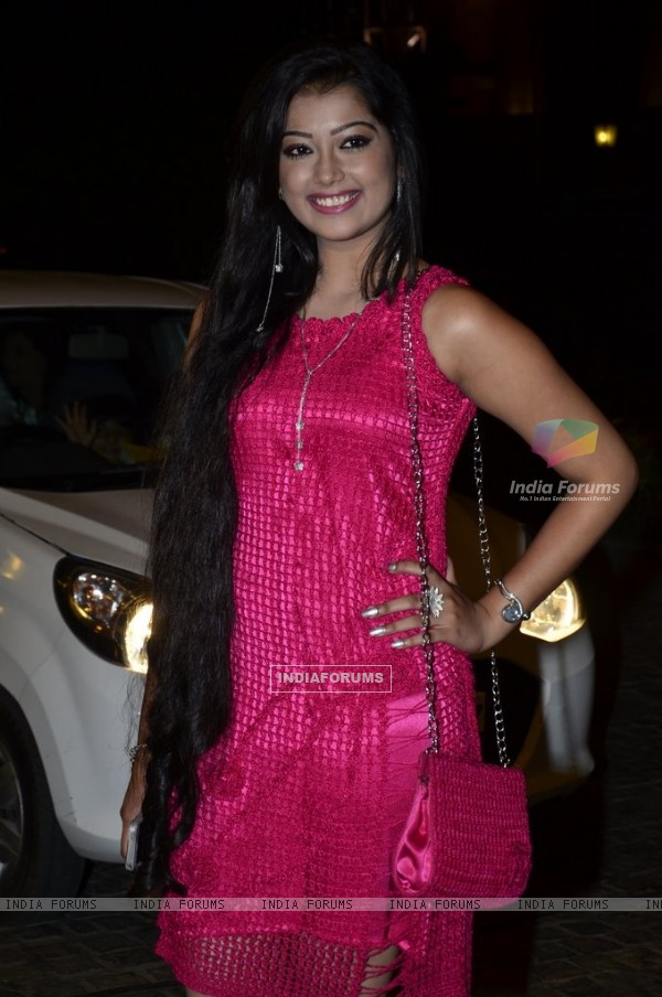 Digangana Suryavanshi poses for the media at SBS Party
