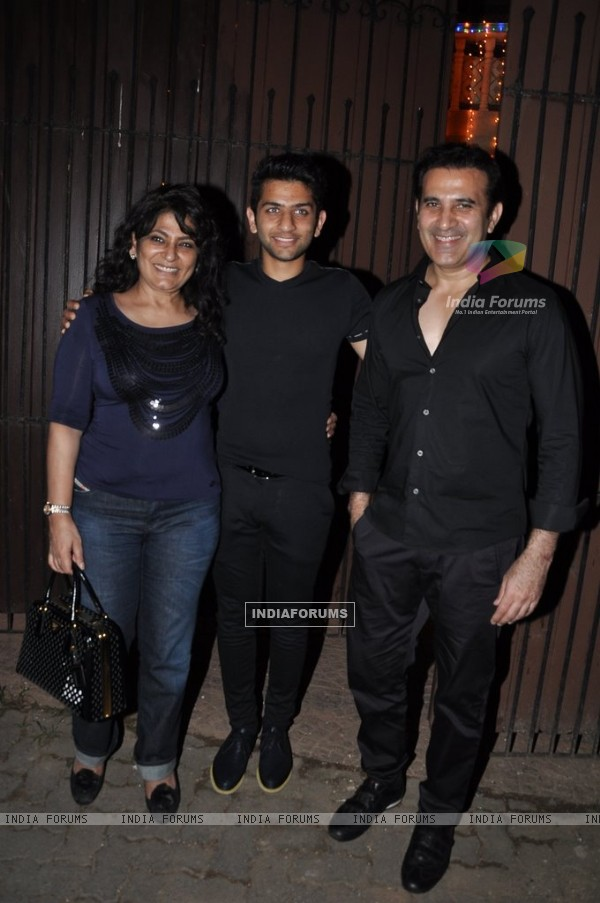 Archana Puran Singh and Parmeet Sethi pose with their Son at Private Diwali Bash