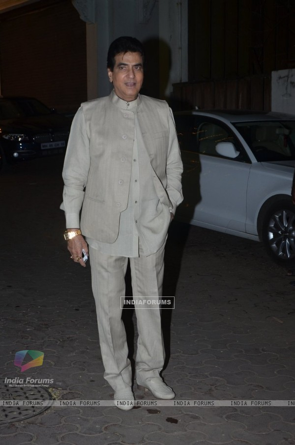 Jeetendra poses for the media at Shilpa Shetty Diwali Bash