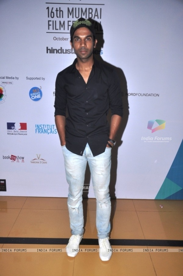 Rajkummar Rao poses for the media at the 16th MAMI Film Festival Day 7