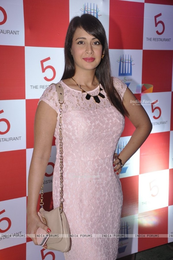Preeti Jhangiani poses for the media at the Launch of Restaurant 5