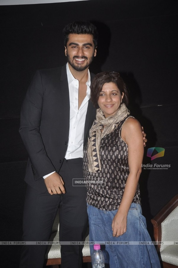 Arjun Kapoor poses with Zoya Akhtar at the Closing Ceremony of 16th MAMI Film Festival