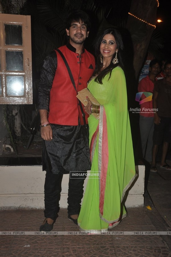 Suyyash Rai and Kishwer Merchantt were at Ekta Kapoor's Diwali Party