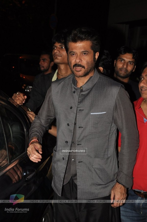 Anil Kapoor was snapped at Aamir Khan's Diwali Bash