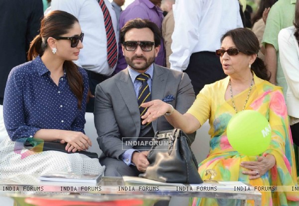 Saif Ali Khan with his family at Bhopal Pataudi Polo Cup 2014