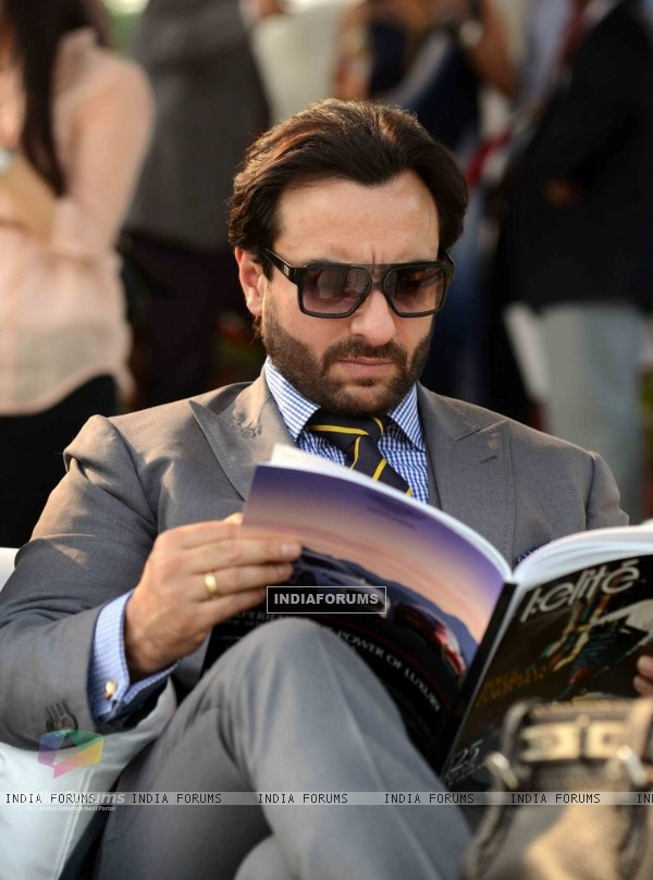 Saif Ali Khan at the Bhopal Pataudi Polo Cup 2014