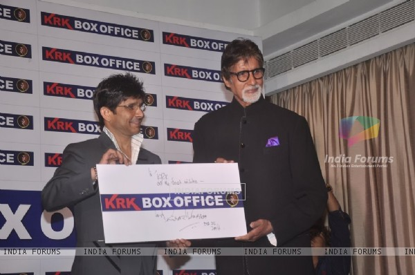 Amitabh Bachchan inaugurates KKR's Box Office Website