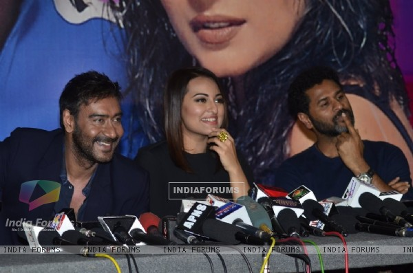 Prabhu Deva, Sonakshi Sinha and Ajay Devgn snapped on the Sets of KBC 8