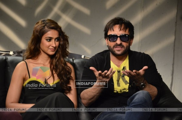 Saif Ali Khan interacts with the media