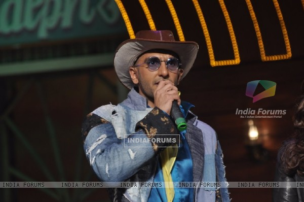 Ranveer Singh addressing the audience at the Song Launch of Kill Dil
