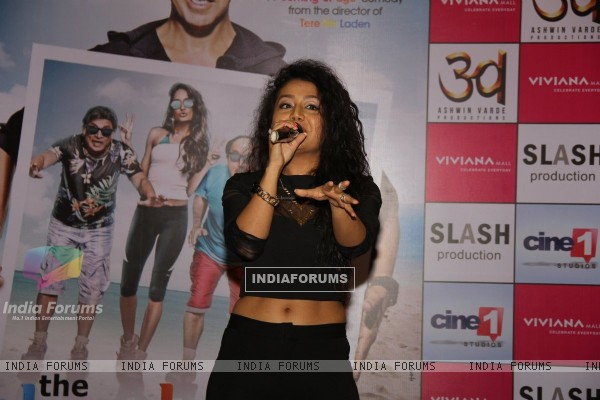 Neha Kakkar performs at the Promotions of The Shaukeens at Thane
