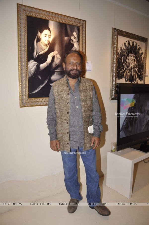 Ketan Mehta poses for the media at the Inauguration of Raja Ravi Verma's Collection of Life and Work