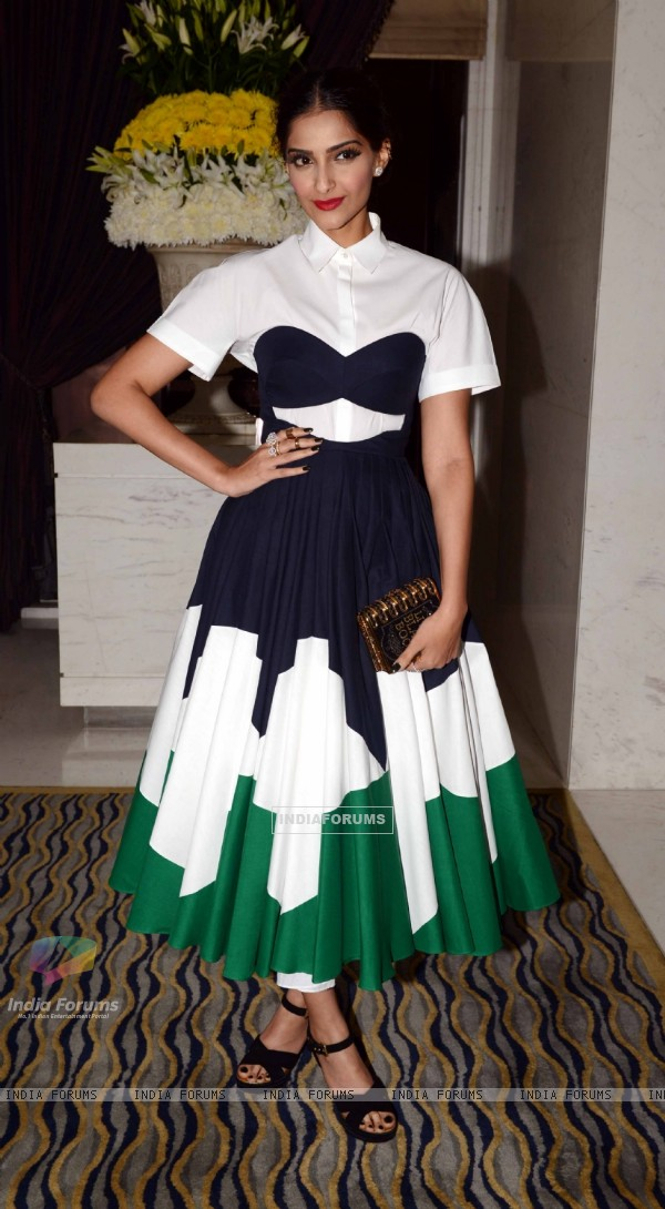 Sonam Kapoor was seen at BOF's(The Business of Fashion) Party at Leela Hotel in New Delhi