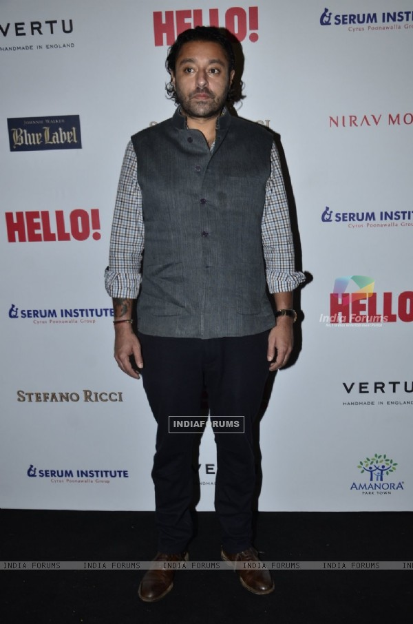 Vikram Chatwal poses for the media at Hello! Hall of Fame