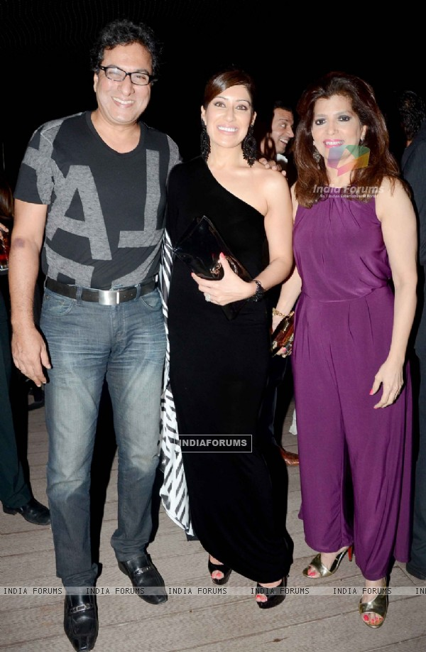 Maheka Mirpuri poses with Talat and Bina Aziz at her Birthday Party
