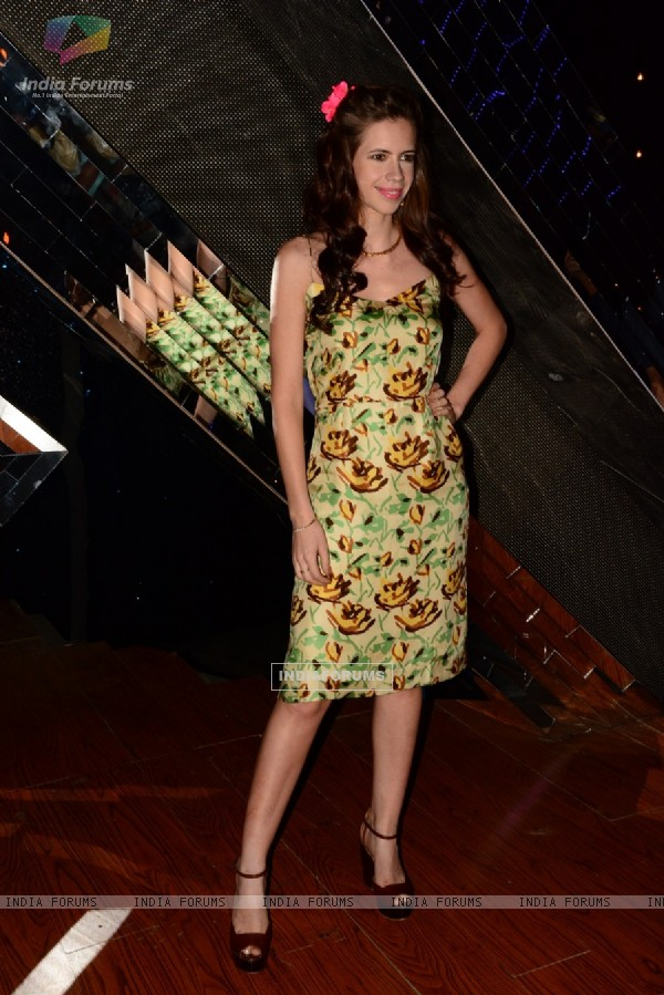 Kalki Koechlin pose for the media at the Promotions of Happy Ending on India's Raw Star