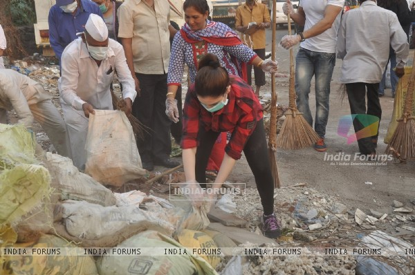 Tammanah was snapped at a Cleanliness Drive