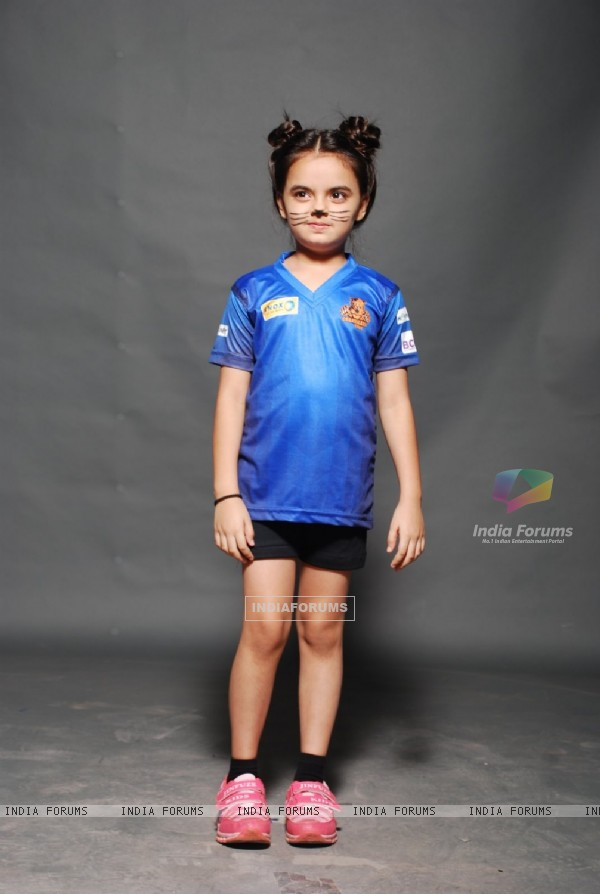 Ruhanika Dhawan poses for the media at the Photo Shoot of BCL Team Chandigarh Cubs