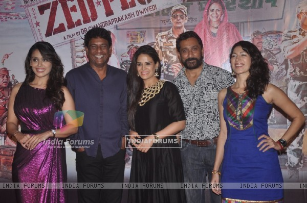 Celebs pose for the media at the Launch of the Film Zed Plus
