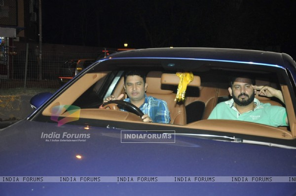 Bhushan Kumar was snapped outside Ravi Chopra's house