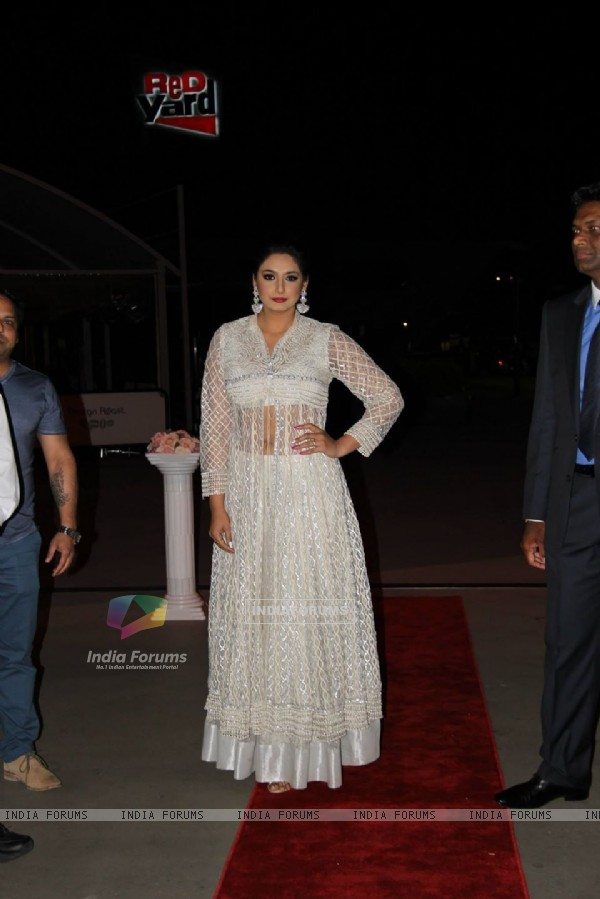 Huma Qureshi poses for the media at International Film and Entertainment Festival Australia