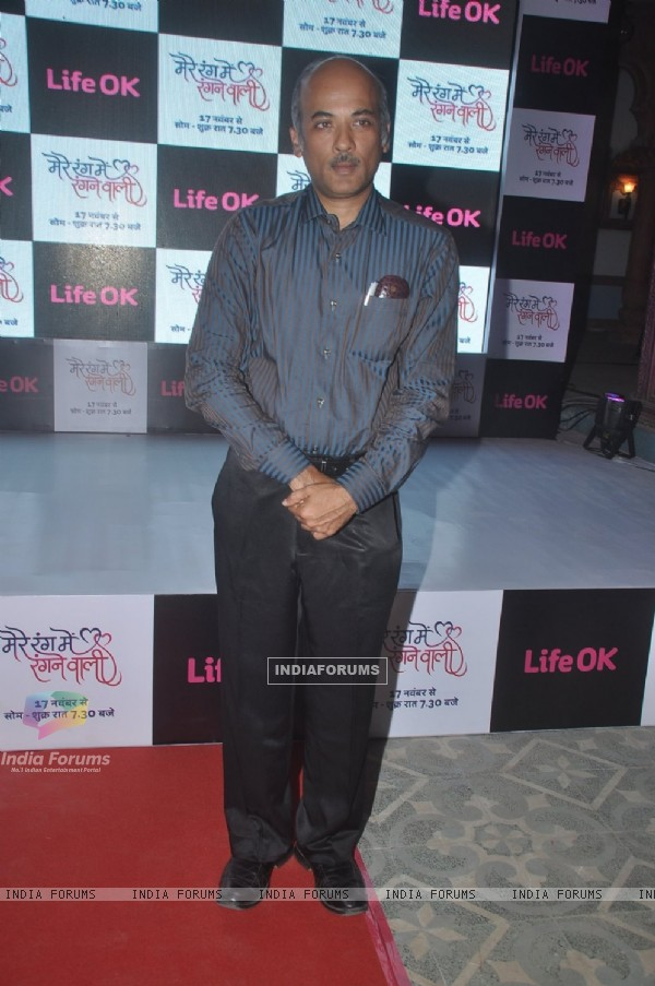 Sooraj Barjatya poses for the media at the Launch of Mere Rang Mein Ranganewali
