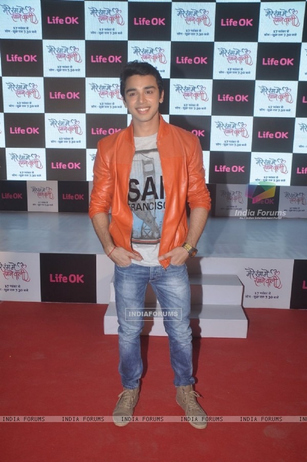 Samridh Bawa poses for the media at the Launch of Mere Rang Mein Ranganewali