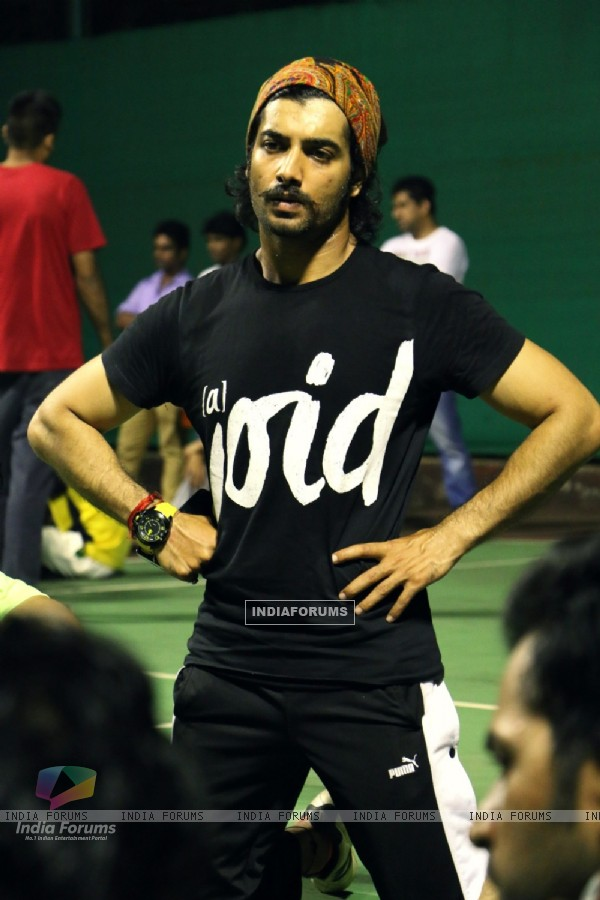Ssharad Malhotra was at the Practise Sessions of BCL Team Kolkata Baabu Moshayes