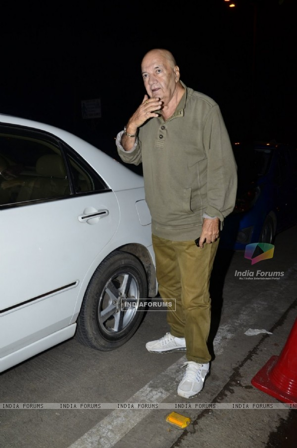 Prem Chopra was snapped at the Prayer Meet of Ravi Chopra