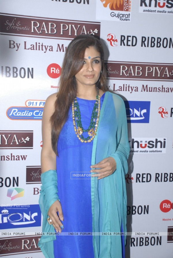 Raveena Tandon was seen at Lalitya Munshaw's Concert