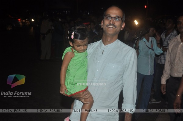 Rohan Sippy with his daughter at Aradhya Bachchan's Birthday Bash