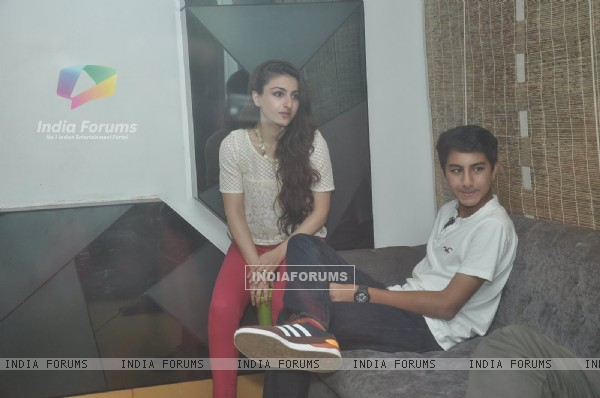 Soha Ali Khan was snapped with Ibrahim Ali Khan at the Special Screening of Happy Ending