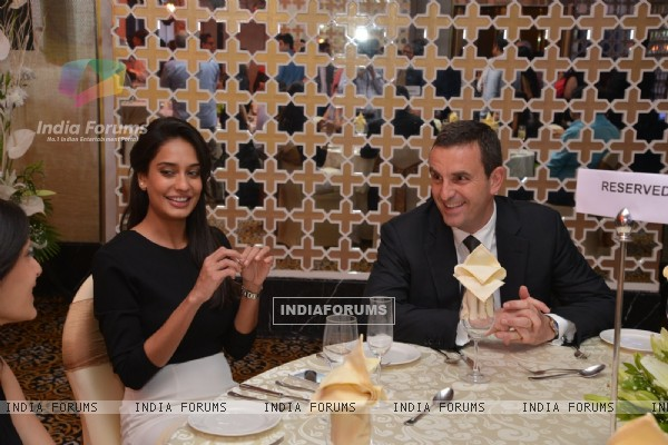 Lisa Haydon was snapped at the Launch of Carl F. Bucherer's Pathos Collection in India