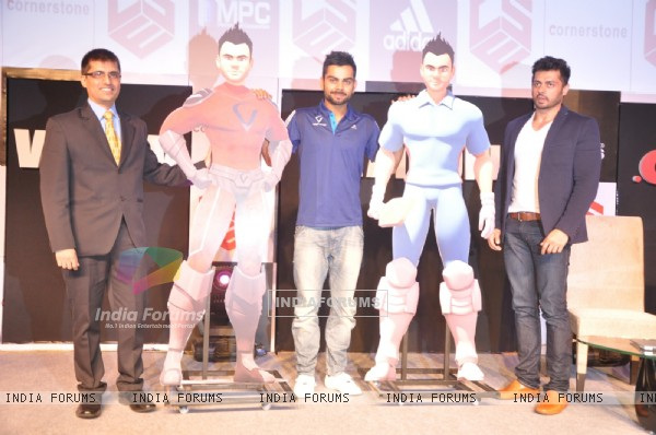 Virat Kohli with his 3D Animated Character