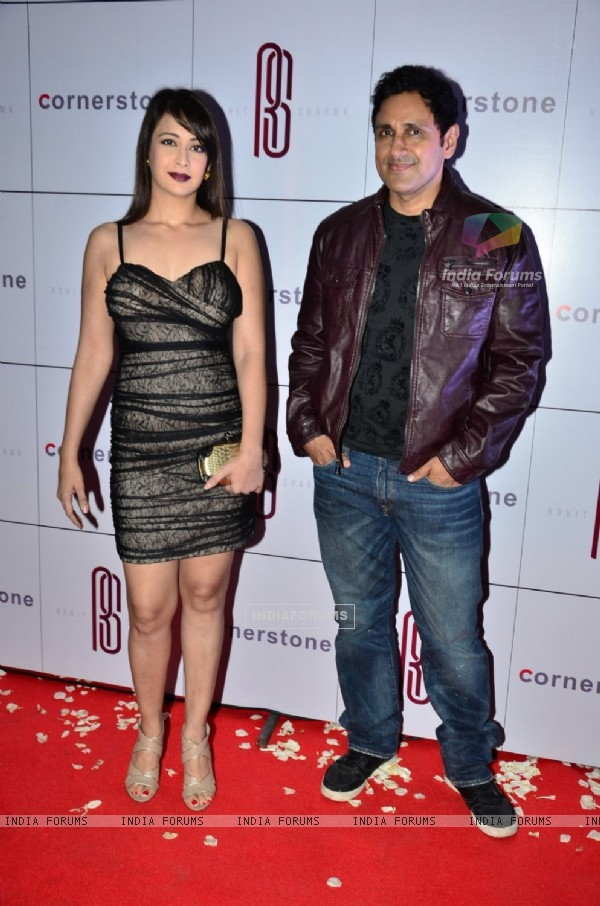 Preeti Jhangiani and Parvin Dabas pose for the media at Rohit Sharma's Bash