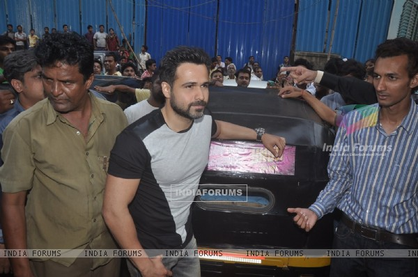 Emraan Hashmi poses for the media at the Promotions of Ungli