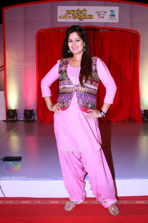 Resham Seth poses for the media at the Launch of Satrangi Sasural