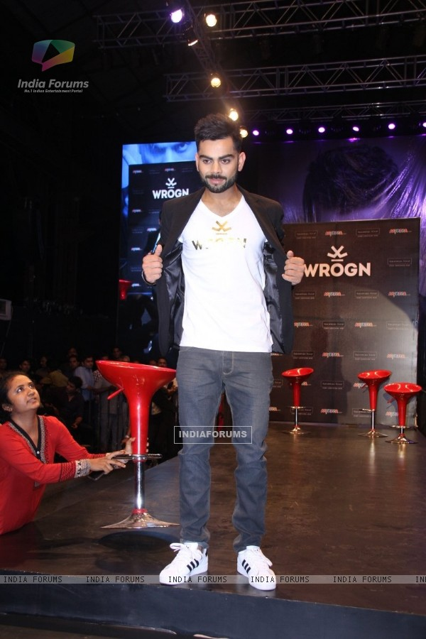 Virat Kohli at the Launch of his own Fashion Label