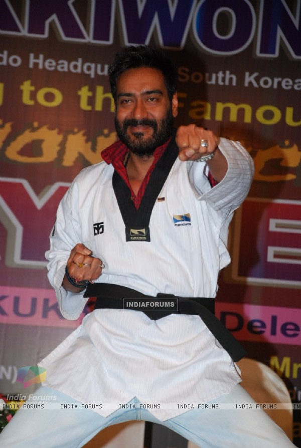 Ajay Devgn shows off his Taekwondo skills